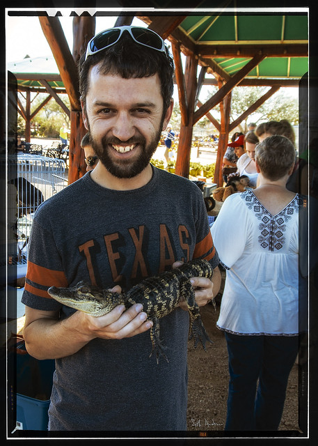 Andrew With Alligator - Kodachrome