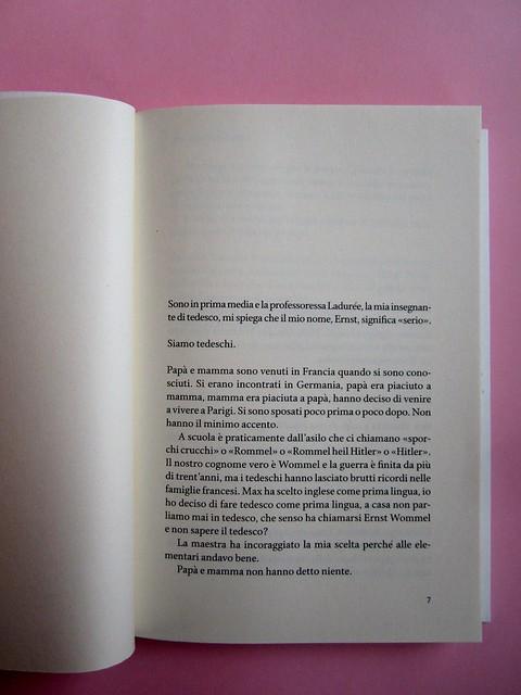 Denis Lachaud, Imparo il tedesco. 66THAND2ND 2013. Progetto grafico: Silvana Amatao, Marta B Dau. Alla cop.: disegno di Julia Binfield. Incipit (part.), 1
