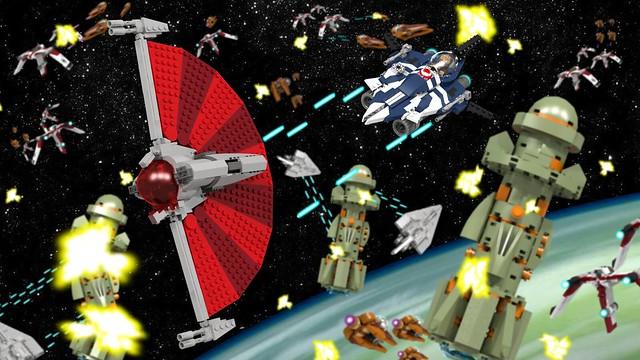 LDD Azure Angel vs. Ginivex Starfighter, by Gunner