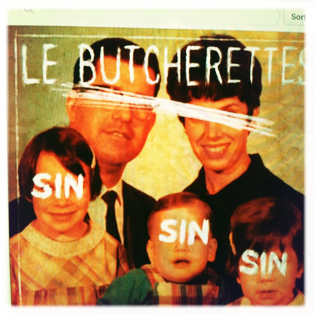 screen capture: Le Butcherettes record cover