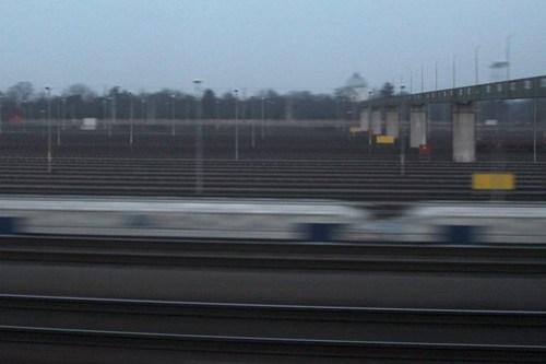 Empty rail sidings outside my window