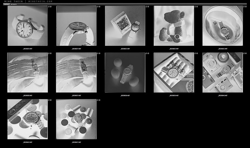 blad watches negatives contact sheet
