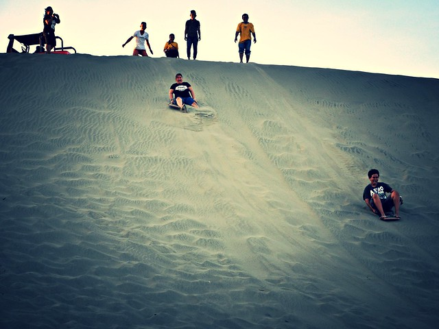 Laoag Sand Dunes Sandboarders