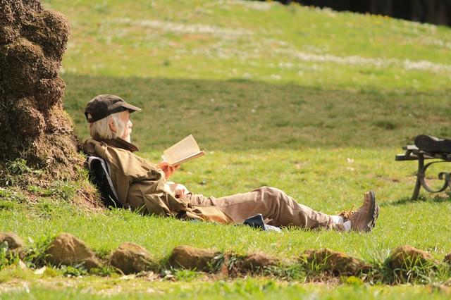 Sotto il sole, leggendo un libro