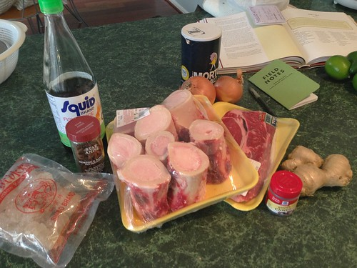 Ingredients for Beef Pho