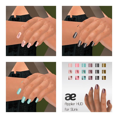 Pansy Nail Add On HUD (for Slink Hands)