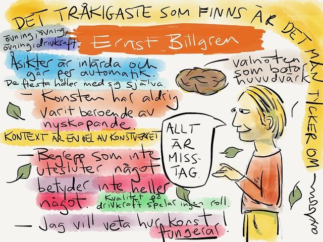 Sketchnotes från samtalet med Ernst Billgren på #aggro13