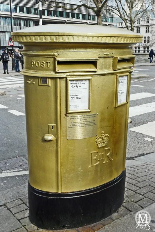 Gold Post Box