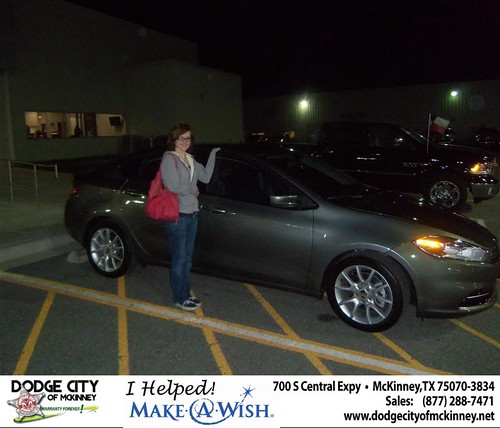 Congratulations to Lori Denewiler on the  2013 Dodge Dart by Dodge City McKinney Texas