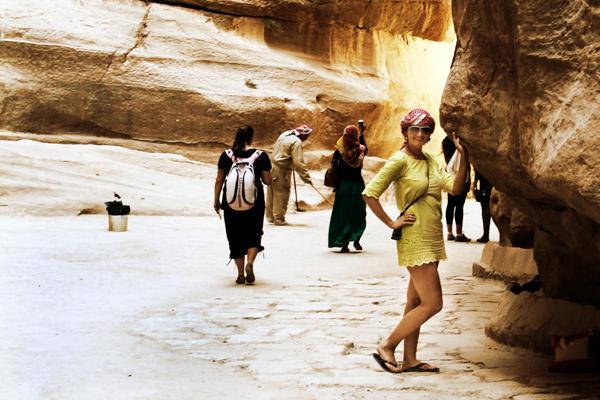 Turistas en Petra