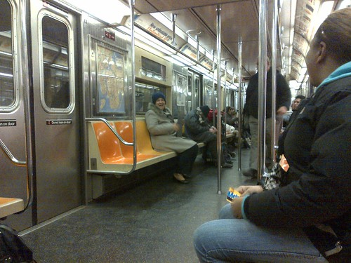 Subway Stories - napping in the subway 05March2013