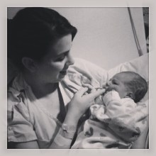 Mommy soothing baby girl. #1dayold