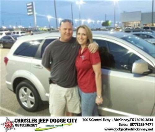 Dodge City of McKinney would like to say Congratulations to Staci Nichols on the 2012 Dodge Journey by Dodge City McKinney Texas