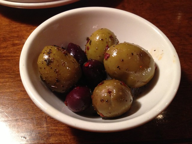 Marinated olives - Firewood Cafe