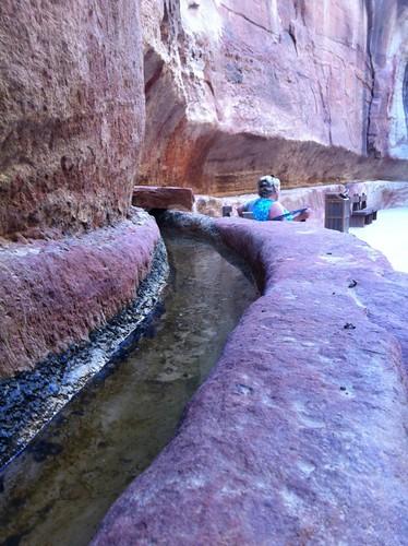 Aqueducts in Petra, Jordan (February 2013)