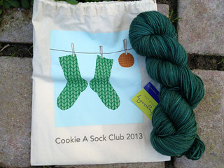 Cookie A Sock Club Bag and Indigodragonfly MCN Sock Yarn