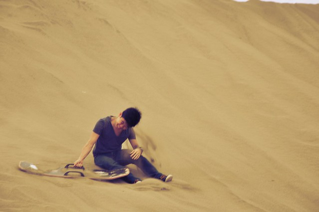 Michael Josh Villanueva at the Laoag Sand Dunes