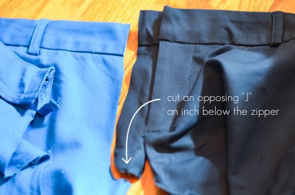 DIY Two-Tone Pants