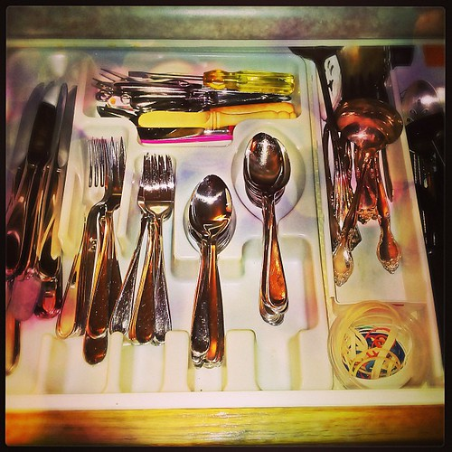 Mar 25 - in your drawer {cutlery / silverware drawer} #fmsphotoaday