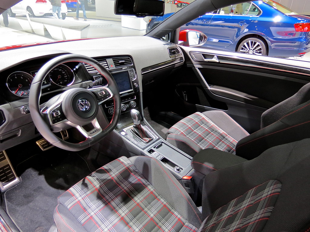 2014 VW Golf GTI plaid interior