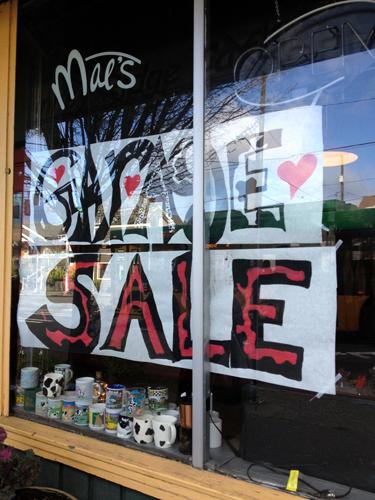 Mae's Garage Sale