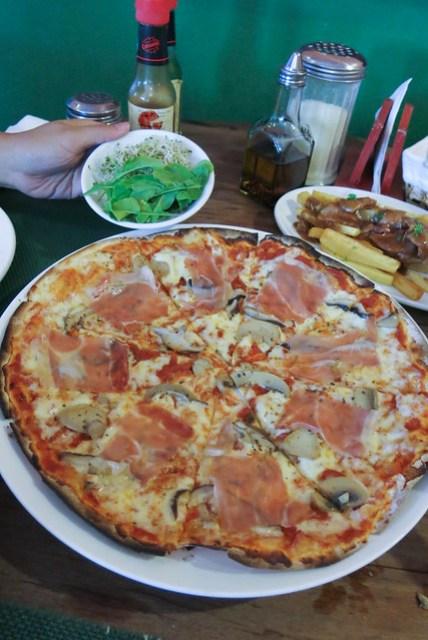 Prosciutto Funghi Pizza at Mama Lou's