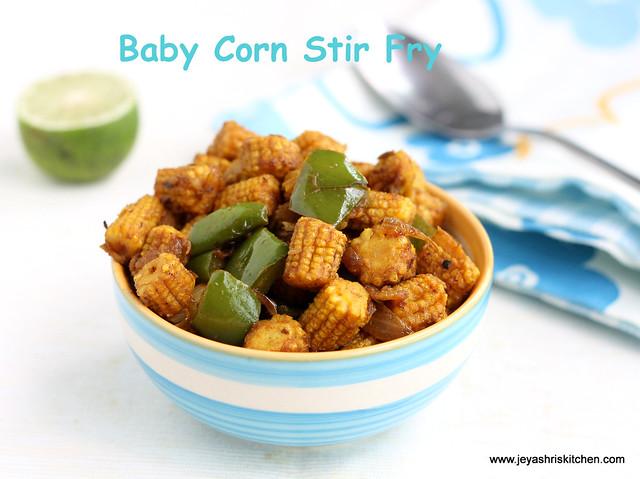 Baby corn stir fry 2
