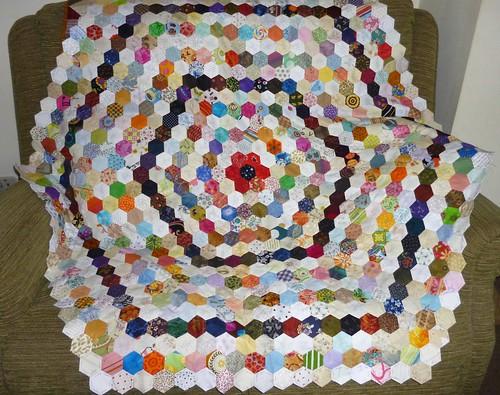 hexagons on the sofa april 2013