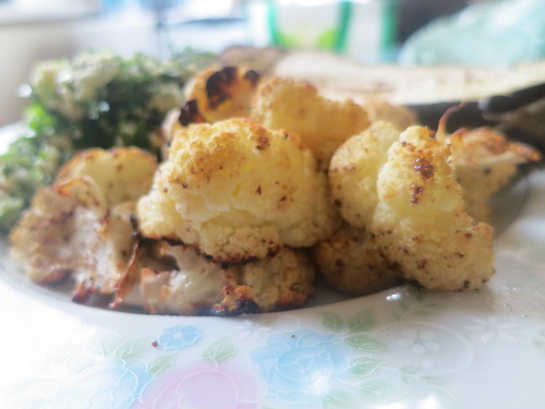 Roasted and spiced crispy cauliflower