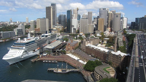 CBD, with cruise ship