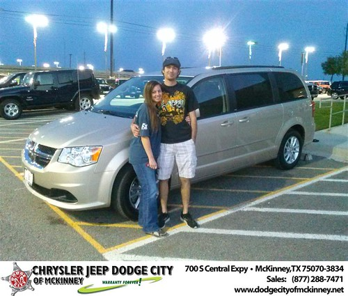 Dodge City of McKinney would like to say Congratulations to Joseph Curran on the 2013 Dodge Grand Caravan by Dodge City McKinney Texas