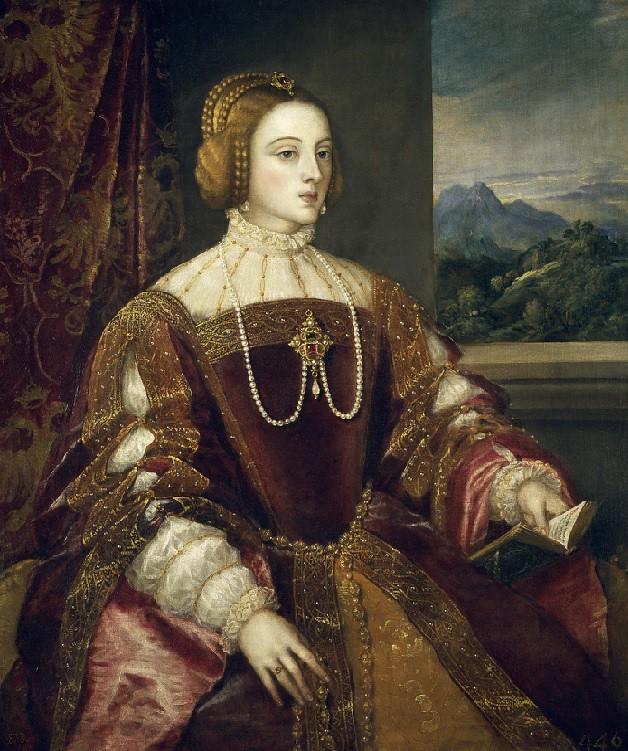 Isabel de Portugal. Óleo sobre lienzo. Tiziano, 1548