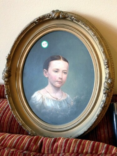 Oval framed portrait