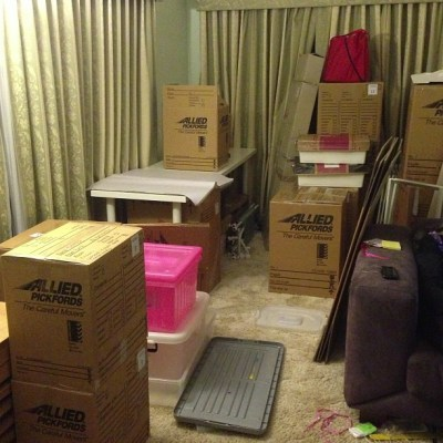 It is box city here in every room... #6sleepstogo!!