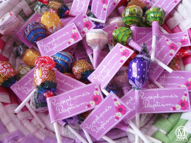 Lollipop Party Favours - for Baptism/Christening/Baby Shower