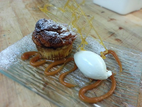 Cinnamon and Carmel bread pudding by pipsyq