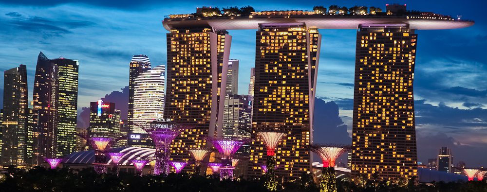 Marina Bay Sands and Super Trees
