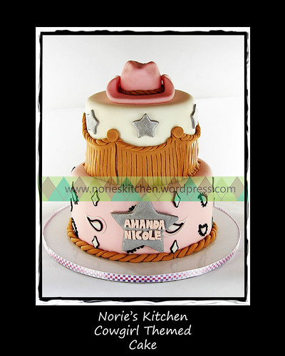 Norie's Kitchen - Cowgirl Theme Cake by Norie's Kitchen