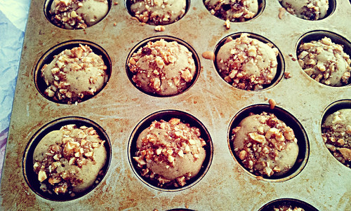 Dried Papaya Muffins with Cashew Crumble
