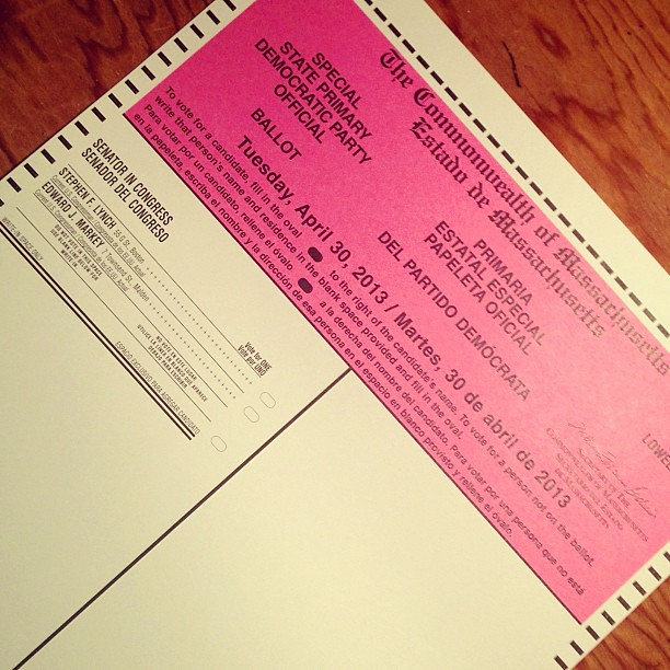 Voted! #Lowell #MASen #Usingthe19th #Vote