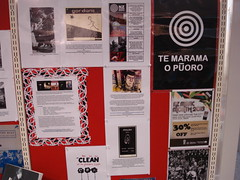 NZ Music Month display at Shirley Library