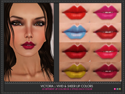 Victoria Sheer & Vivid Lip Colors