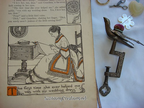 The Mary Frances Sewing Book w/ Vintage/Antique sewing bird