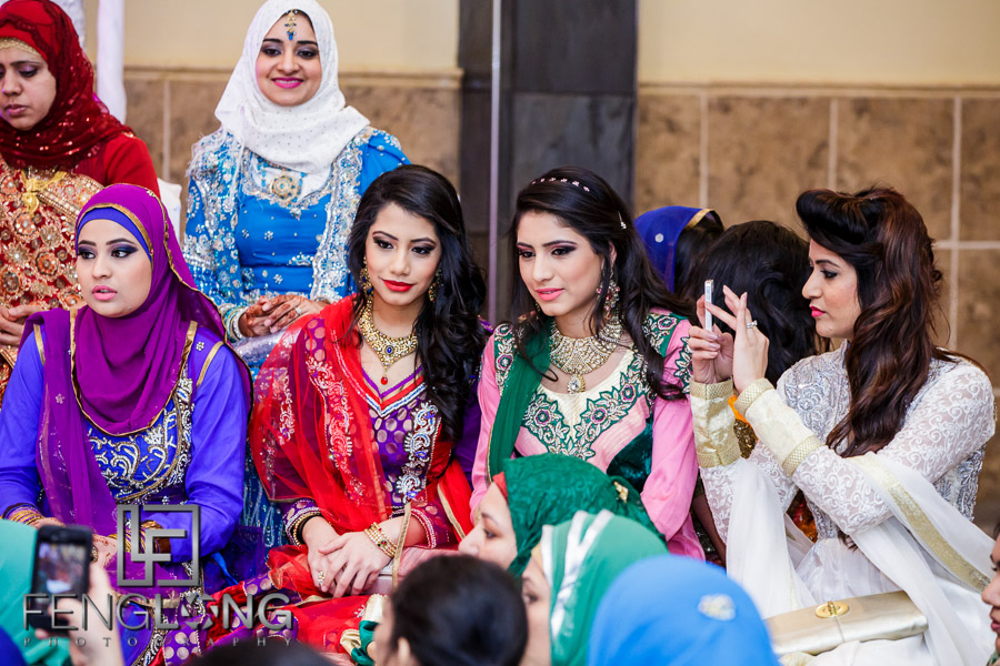 Guests at Muslim Indian wedding