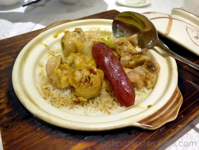 steamed seasoned dried meat rice & chicken HK$68