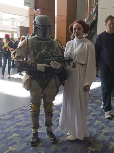Boba Fett and Princess Leia