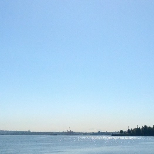 You can kind of faintly see Mount Baker in this pic. I CAN SEE AMERICA FROM HERE
