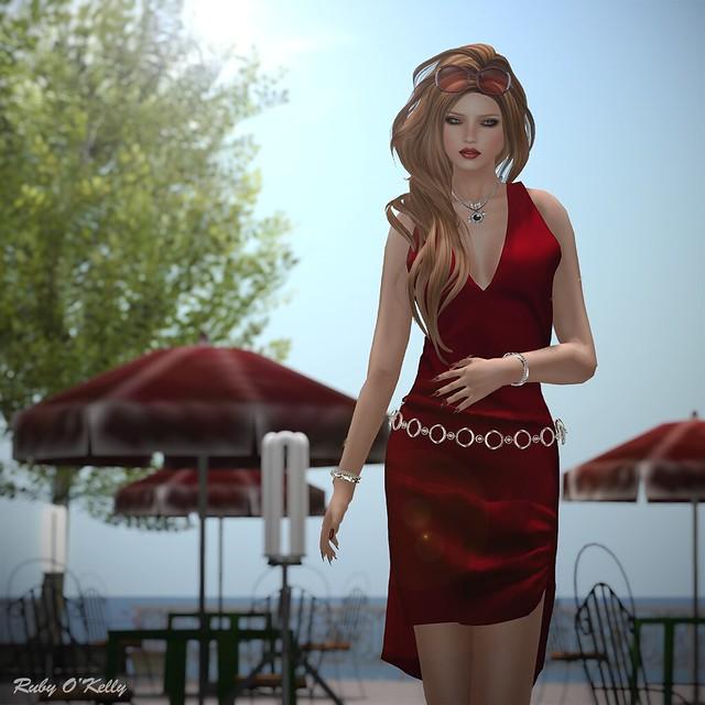 Crystal Line-Diamond dress and sandals-003