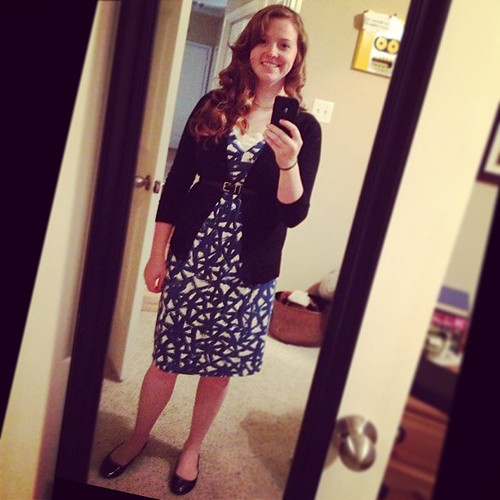 Another comfy jersey dress from the Target clearance rack a few years ago :) #ootd