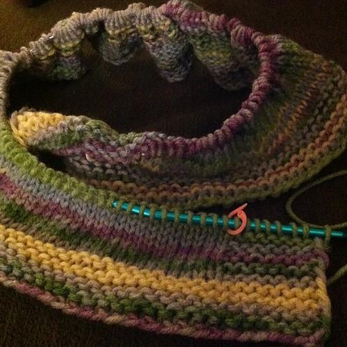 #knit #blanket #project #progress